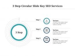 3 Step Circular Slide Key SEO Services Infographic Template