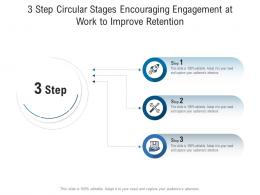 3 Step Circular Stages Encouraging Engagement At Work To Improve Retention Infographic Template