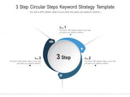 3 Step Circular Steps Keyword Strategy Template Infographic Template