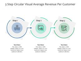 3 Step Circular Visual Average Revenue Per Customer Infographic Template