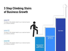 3 Step Climbing Stairs Of Business Growth
