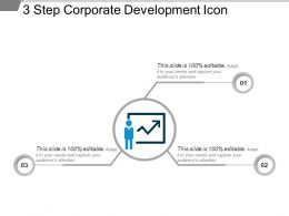 3 Step Corporate Development Icon Example Of Ppt
