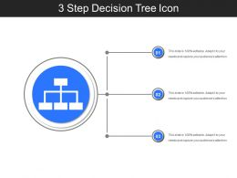 3 Step Decision Tree Icon Ppt Presentation Examples