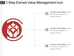 3 Step Earned Value Management Icon