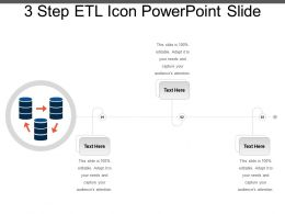 3 Step Etl Icon Powerpoint Slide
