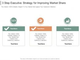 3 Step Executive Strategy For Improving Market Share Infographic Template