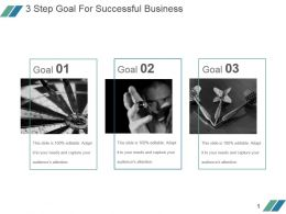3 Step Goal For Successful Business Sample Of Ppt