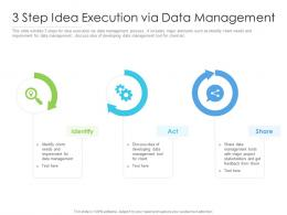 3 Step Idea Execution Via Data Management