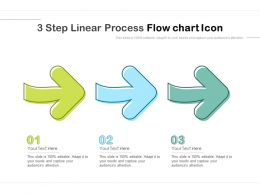 3 Step Linear Process Flow Chart Icon