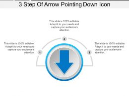 3 Step Of Arrow Pointing Down Icon