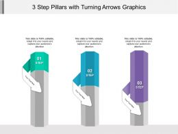 3 Step Pillars With Turning Arrows Graphics