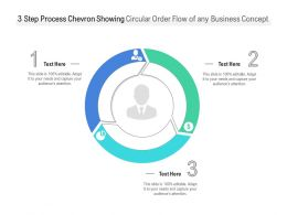 3 Step Process Chevron Showing Circular Order Flow Of Any Business Concept