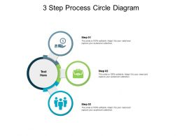 3 Step Process Circle Diagram