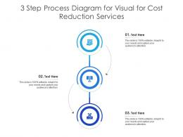 3 Step Process Diagram For Visual For Cost Reduction Services Infographic Template