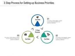 3 Step Process For Setting Up Business Priorities