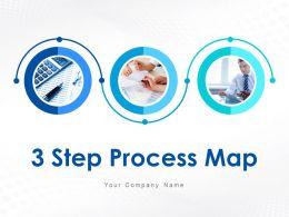 3 Step Process Map Change Plan Model Business Employee Training