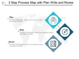 3 Step Process Map With Plan Write And Revise