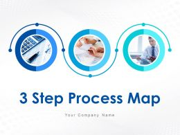 3 Step Process Map Working Towards Achieving Goal Powerpoint Presentation Slides