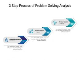 3 Step Process Of Problem Solving Analysis