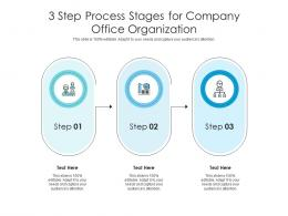 3 Step Process Stages For Company Office Organization Infographic Template