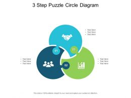 3 Step Puzzle Circle Diagram