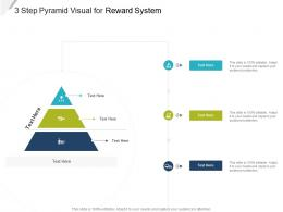 3 Step Pyramid Visual For Reward System Infographic Template