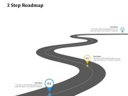 3 Step Roadmap C1323 Ppt Powerpoint Presentation Professional Inspiration