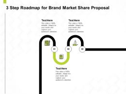 3 Step Roadmap For Brand Market Share Proposal Ppt Powerpoint Presentation Styles