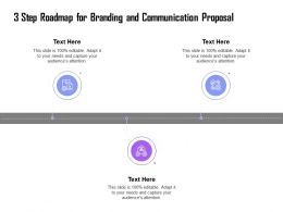 3 Step Roadmap For Branding And Communication Proposal Ppt Icons Pictures