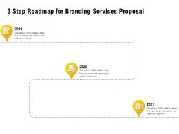 3 Step Roadmap For Branding Services Proposal Ppt Powerpoint Information