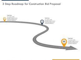 3 Step Roadmap For Construction Bid Proposal Ppt Powerpoint Presentation Icon Rules