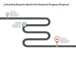 3 Step Roadmap For Sports Development Program Proposal Ppt Powerpoint Presentation Slide