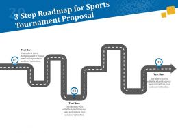 3 Step Roadmap For Sports Tournament Proposal Ppt Powerpoint Model
