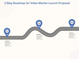3 Step Roadmap For Video Market Launch Proposal Ppt Powerpoint Objects