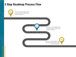 3 Step Roadmap Process Flow L1948 Ppt Powerpoint Pictures Designs Download