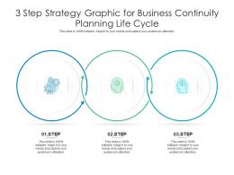 3 Step Strategy Graphic For Business Continuity Planning Life Cycle Infographic Template