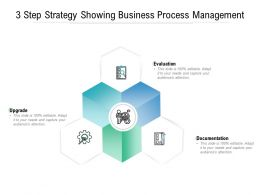 3 Step Strategy Showing Business Process Management