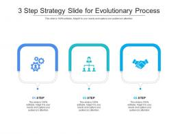 3 Step Strategy Slide For Evolutionary Process Infographic Template