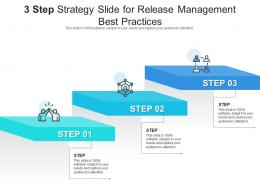 3 Step Strategy Slide For Release Management Best Practices Infographic Template