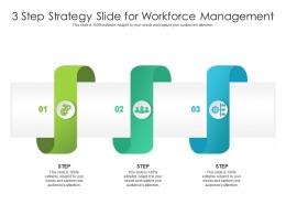 3 Step Strategy Slide For Workforce Management Infographic Template