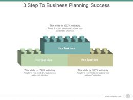 3 Step To Business Planning Success Example Of Ppt