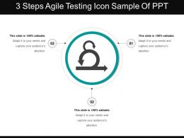 3 Steps Agile Testing Icon Sample Of Ppt
