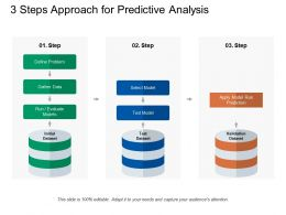 3 Steps Approach For Predictive Analysis
