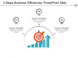 3 Steps Business Efficiencies Powerpoint Slide