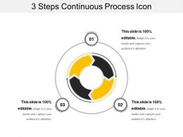 3 Steps Continuous Process Icon
