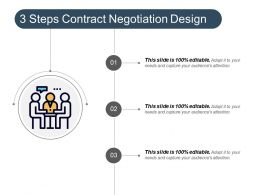 3 Steps Contract Negotiation Design Example Of Ppt
