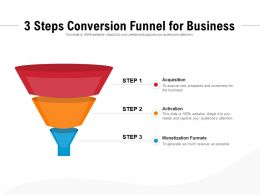 3 Steps Conversion Funnel For Business
