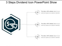 3 Steps Dividend Icon Powerpoint Show