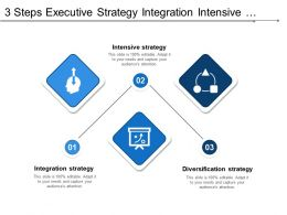 3 Steps Executive Strategy Integration Intensive Diversification And Defensive Strategy