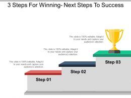 3 Steps For Winning Next Steps To Success Example Of Ppt